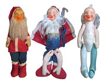 Vanhan joulutontun korjaaminen, raajat kiinnitetty takaisin, vartalo täytetty, vaatteet puhdistettu
