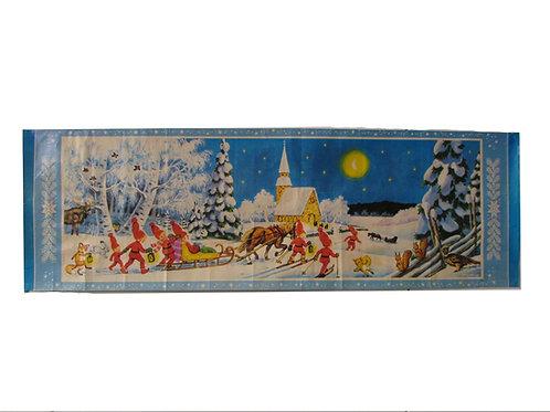 Joulupaperitaulu Teuvo Koskinen, kirkkomatka