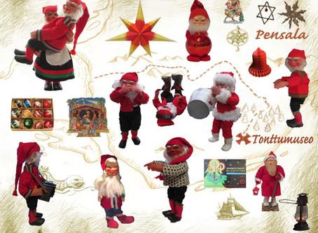 Yli 100-vuotta vanhoja joulukoristeita