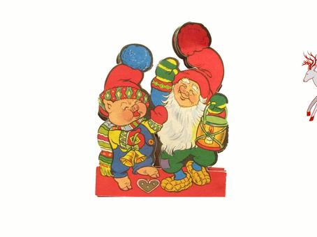 Vanhat joulukoristeet - tonttujono