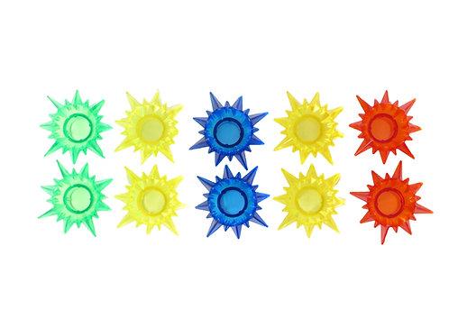 Retro valosarjan tähtipiikki varalamput, eri väreissä, väri lamput retro valosarjaan