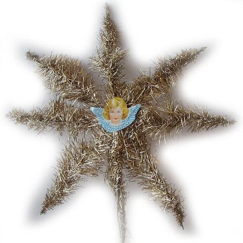 Kiiltokuvaenkeli latvatähti, hopealanka