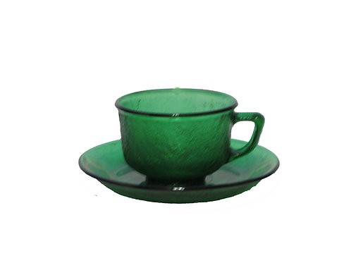 Retro kahvikupit, lasia. Vihreät -70 luvulta
