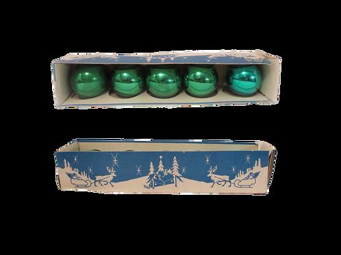 Joulukuusen koristepallot -60 luvulta. Vihreät 60mm