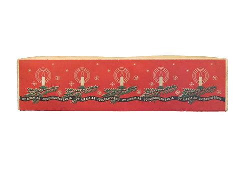 Airam sähkökynttilät -50 luvulta. Toimivat, alkuperäispakkauksessa