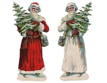Joulupukin historia, vanha punaasuinen joulupukki, Santa Claus, tomte, joulutonttu, Finish joulupukki, joulupukkimuseo, joulukoristemuseo, kiiltokuvajoulupukki,