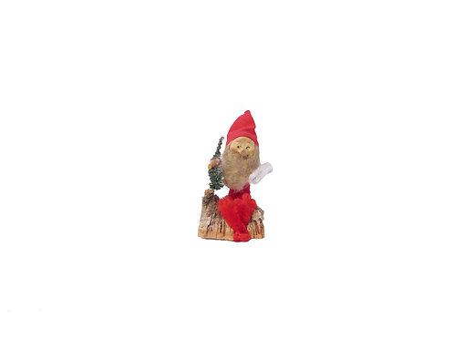 Vanha joulukoriste. Pikkutonttu käävän päällä. K.A Weiste