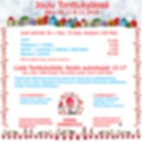 Jouluesite, Nukkemuseon esite, esitteet, varaa joulujuhla, joulu Tonttukylässä, meidän joulu, Nukkemuseon joulu