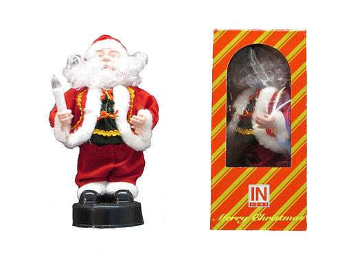 Joulupukki kynttilä kädessä