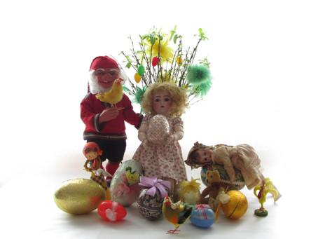 Vanhoja pääsiäiskoristeita