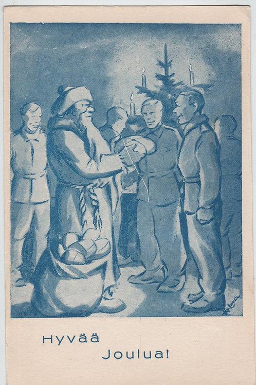 Vanha joulukortti -40 luvulta. Hyvää Joulua!