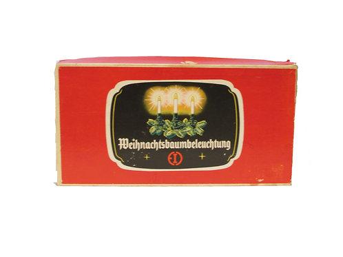 Vanhat joulukuusen sähkökynttilät -50 luvulta