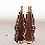 Tonttu-ukko lahjakynttilä, ruskea