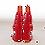 Tonttu-ukko lahjakynttilä, punainen