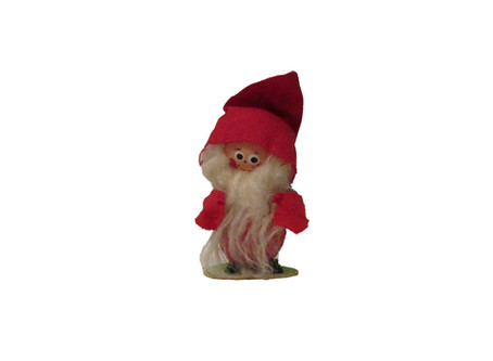 Vanha joulukoriste - pullea tonttu