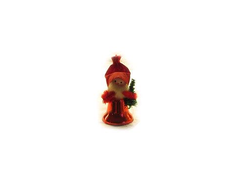 Joulutonttu kellovartalolla, punainen joulukello, vanha joulkoriste