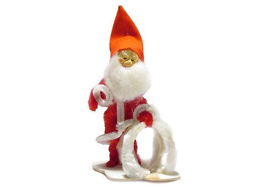 Vanha joulutonttu 14cm, -60 luvulta