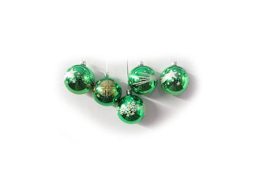 Joulupallo, joulukuusen koristepallo, vihreät joulupallot