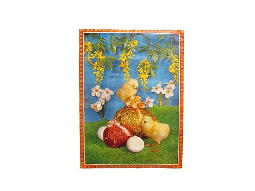 Pääsiäis paperitaulu, foliomunat ja pääsiäistiput