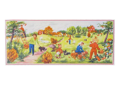 Vanha paperitaulu -50 luvulta, maalaismaisemaa