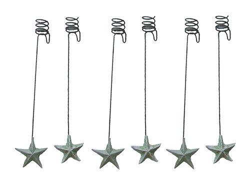 Vanhat kynttilänpidikkeet 7kpl, tähti. Painolla