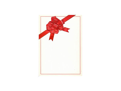 A4 rusetti pahvikortti /pakettikortti