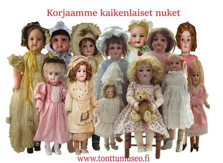Korjaamme nuket, lelut ja nallet