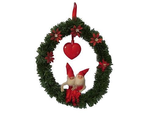 Ovikranssi, joulutontut ja sydän. K.A Weiste -60 luvulta