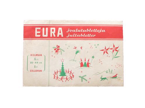 Harvinaisia EURA joulutabletteja 4kpl