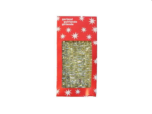 Vanha joulukuusen punosnauha pakkaus, kulta 4m