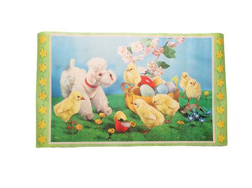 Pääsiäispaperitaulu, koira, tiput ja munakori