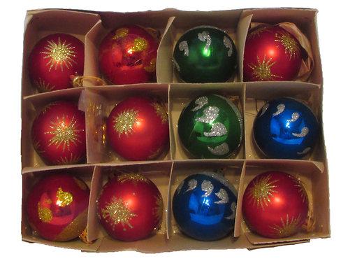Joulukuusen koristepallot -60 luku