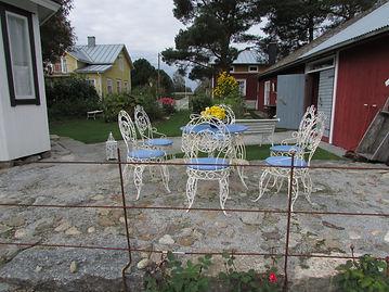 Vanha Ranskalainen puutarhakalusto