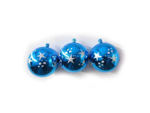 Joulupallo, joulukoriste, siniset hilepallot joulukuuseen