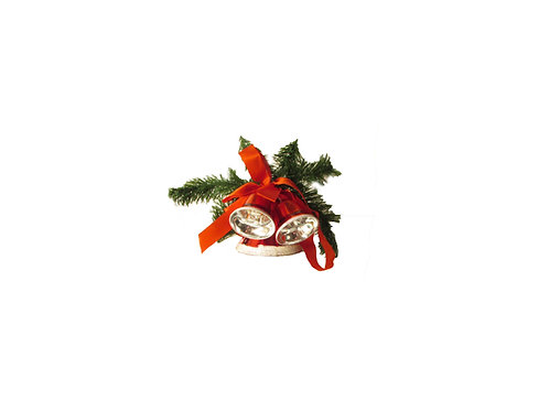 Joulukello, ovikranssi, punaiset joulukellot
