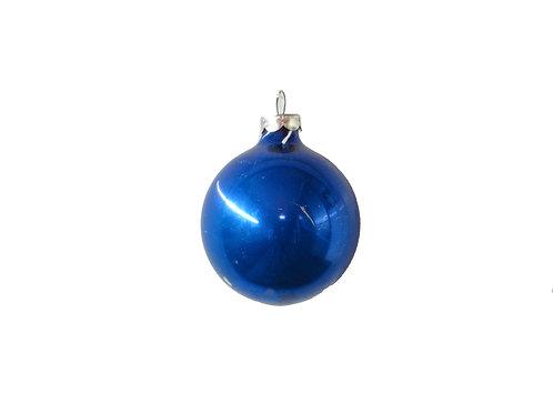 Joulukuusen koristepallot lasia, sininen 3kpl