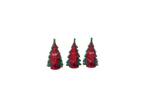 Joulupukki ja joulukuusi, vanha joulukoriste 3kpl