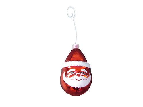 Vanha joulukuusen koristepallo, joulupukin pää