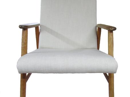 Vanha nojatuoli -50 luvulta