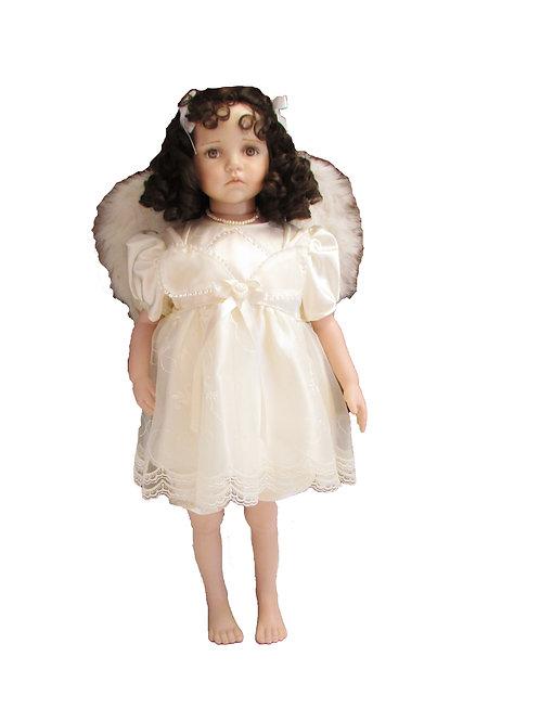 Posliininukke, enkeli 60cm. Sisustukseen, koristeeksi
