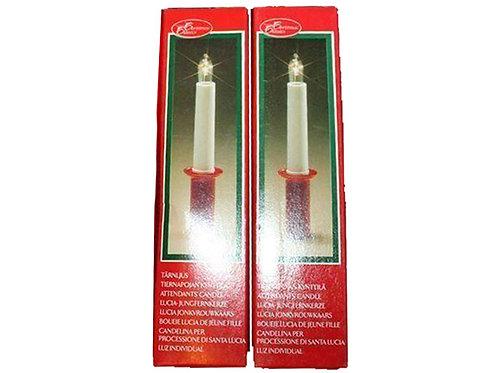 Lucia kynttilät -60-70 luvulta. Kruunuihin ja asetelmiin