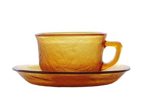 Retro kahvikupit, lasia. Ruskeat -70 luvulta