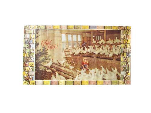 Pääsiäis paperitaulu, pääsiäis noitatyttö kanalassa