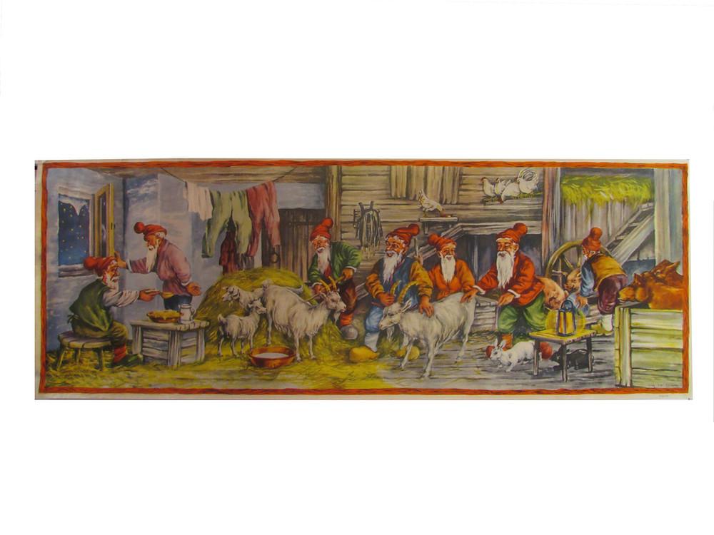 Joulupaperitaulu, joulutaulu, seinäpaperi. Erik Forsman