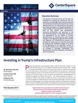 2017.Q1 Trump Infra Plan