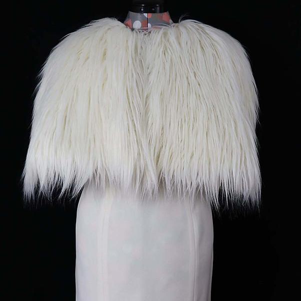 Bridget - Shag Faux Fur/White