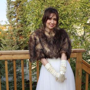 Bridget -  Brown and Gold Faux Fur