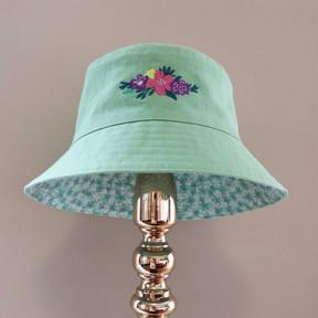 Bucket of flowers - Mint Green