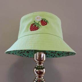 Bucket of Strawberries - Celery Green