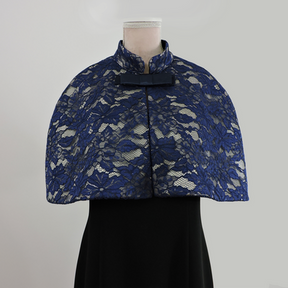 Violet - Navy Lace/Bow Tie Clip